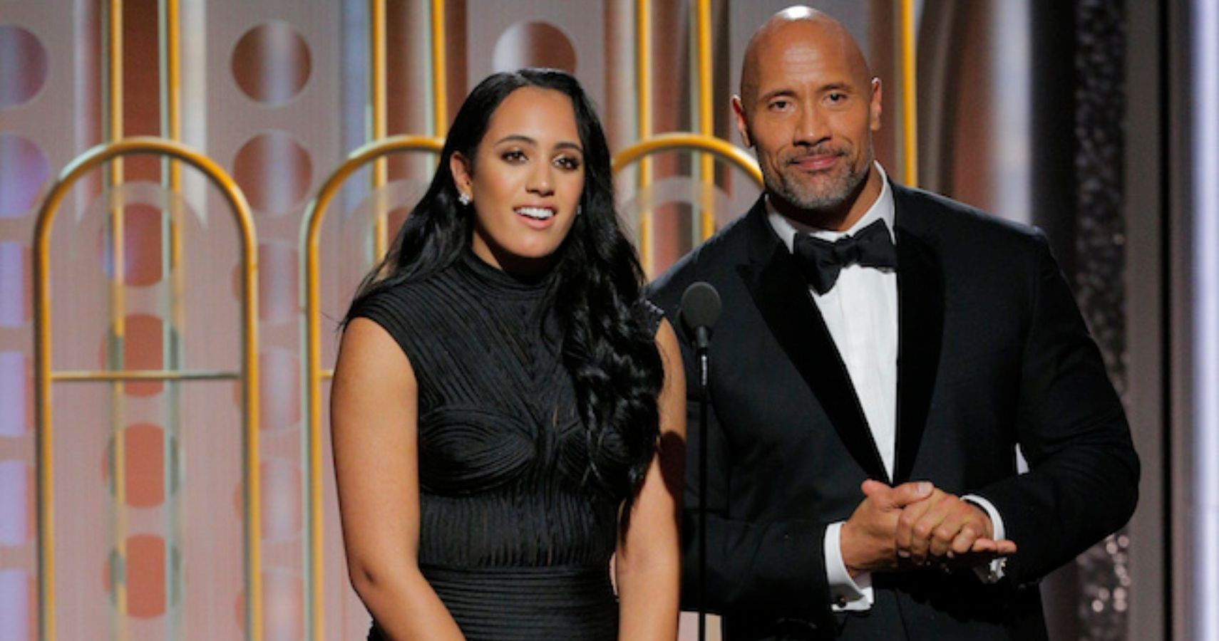 The Rock and his daughter - Simone Johnson