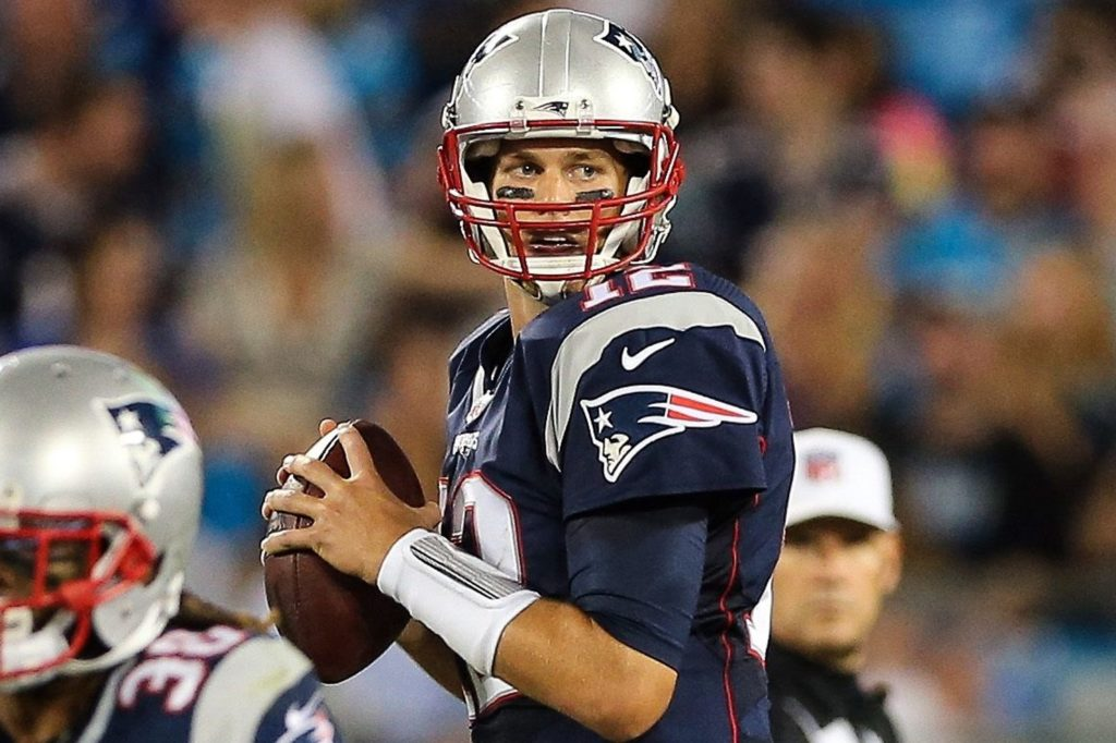 Tom Brady on the field