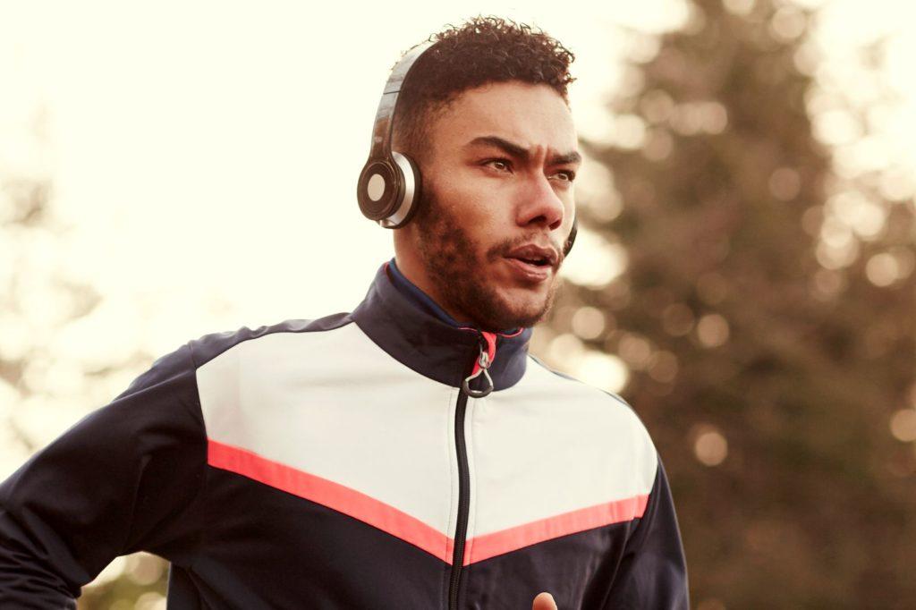 Running with headphones on