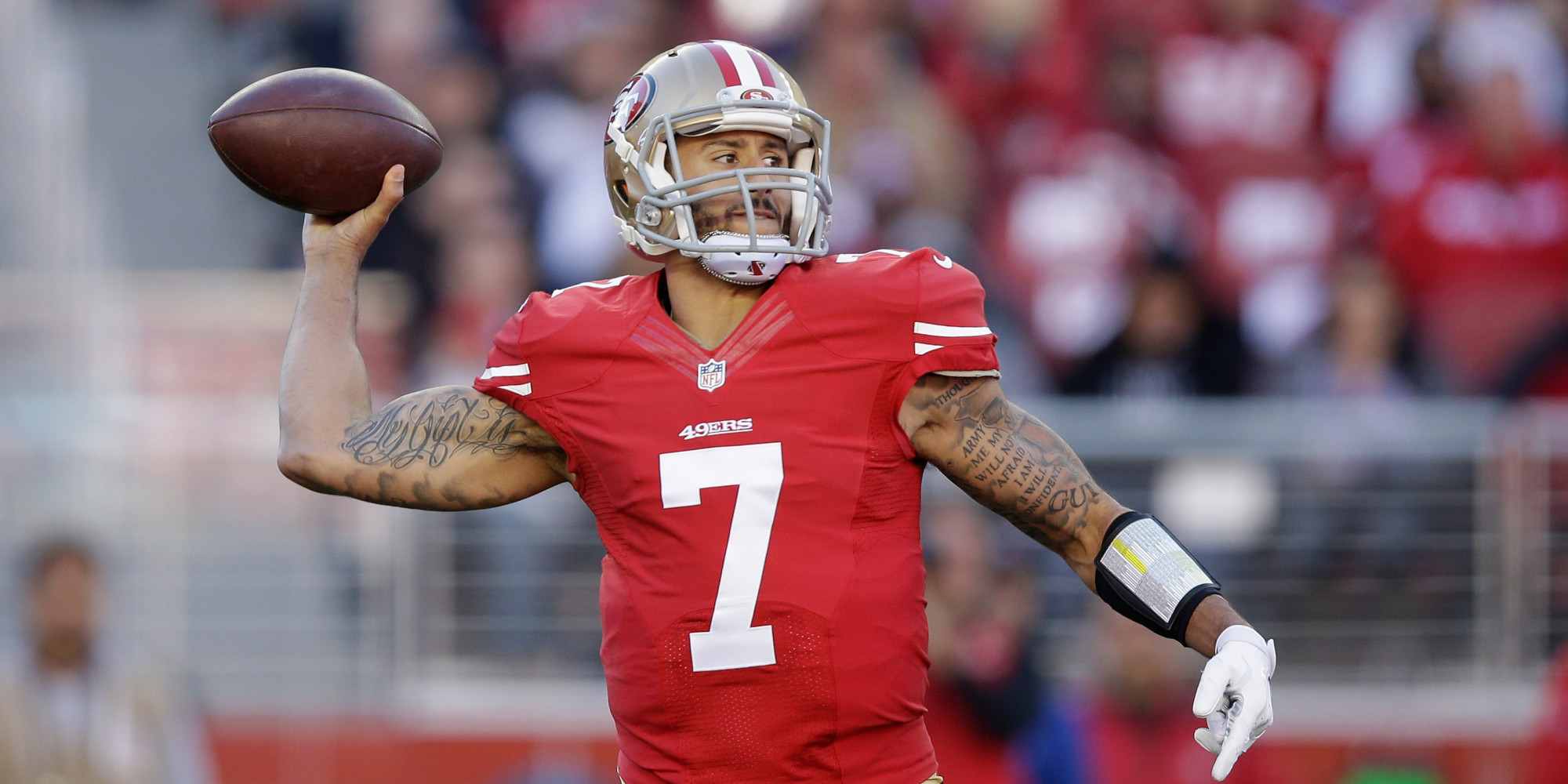 Colin Kaepernick playing for the 49ers