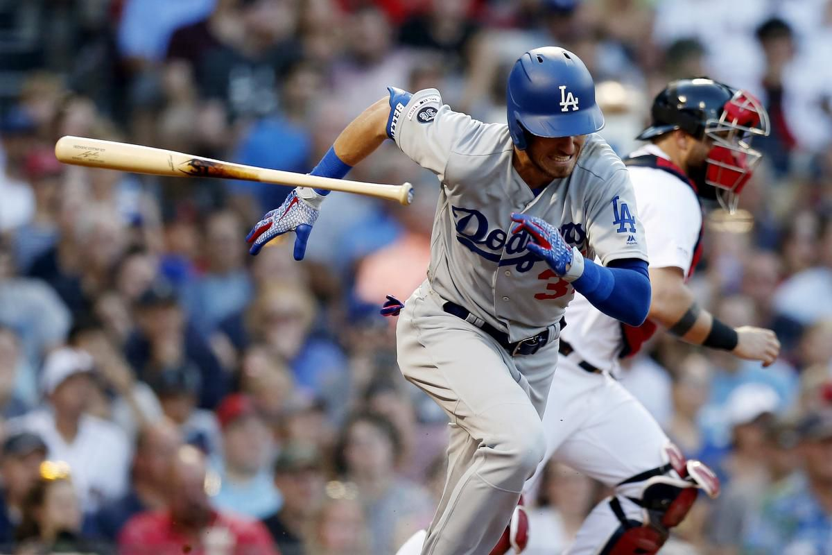 Cody Bellinger playing for the LA Dodgers