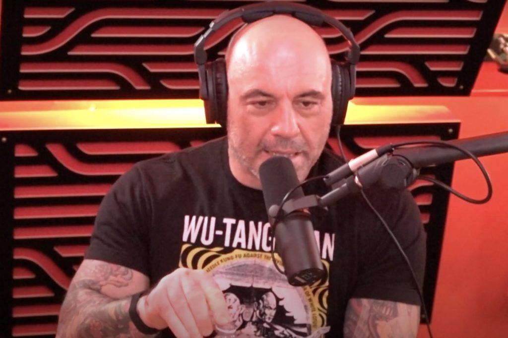 Joe Rogan during a podcast episode