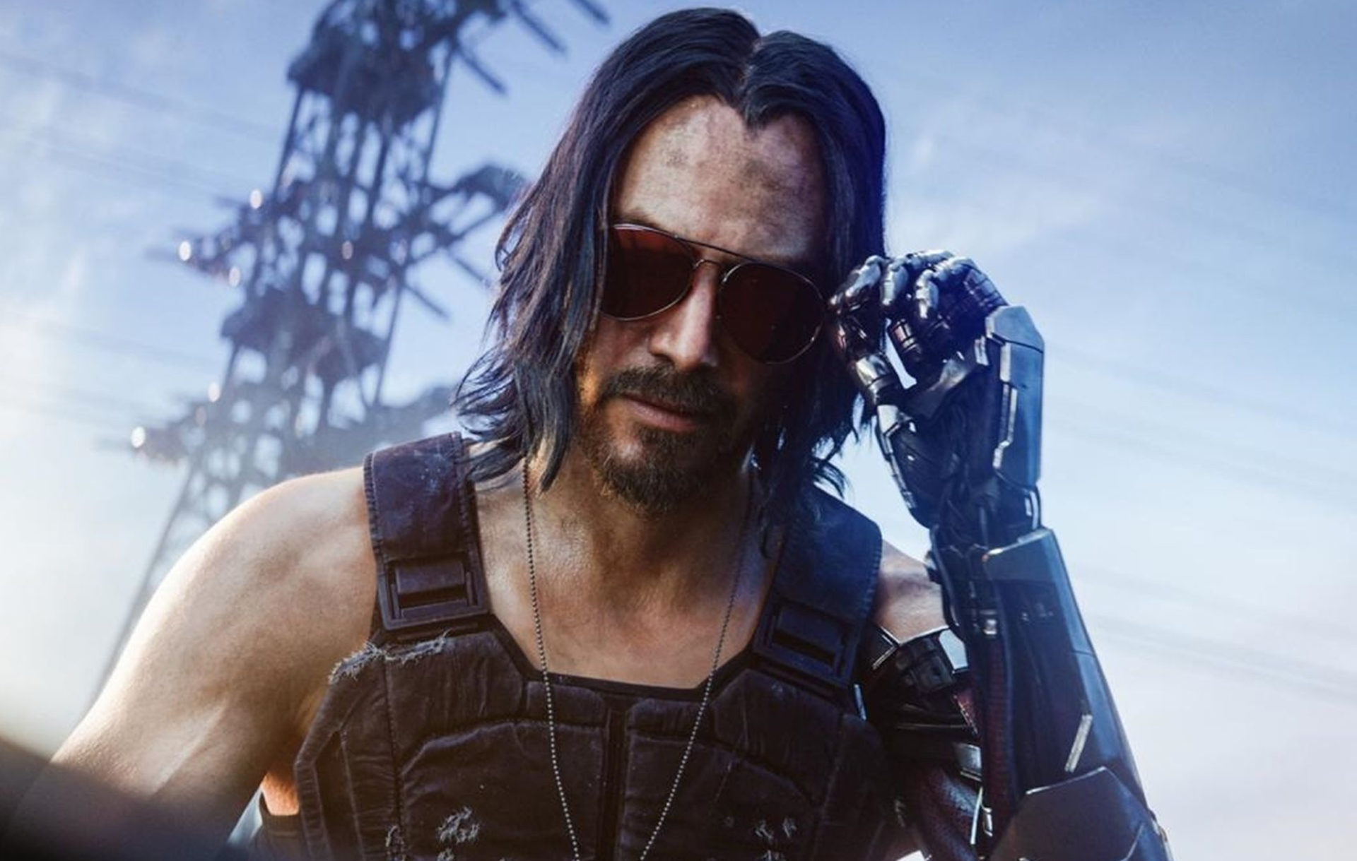 Keanu Reeves as featured in Cyberpunk 2077