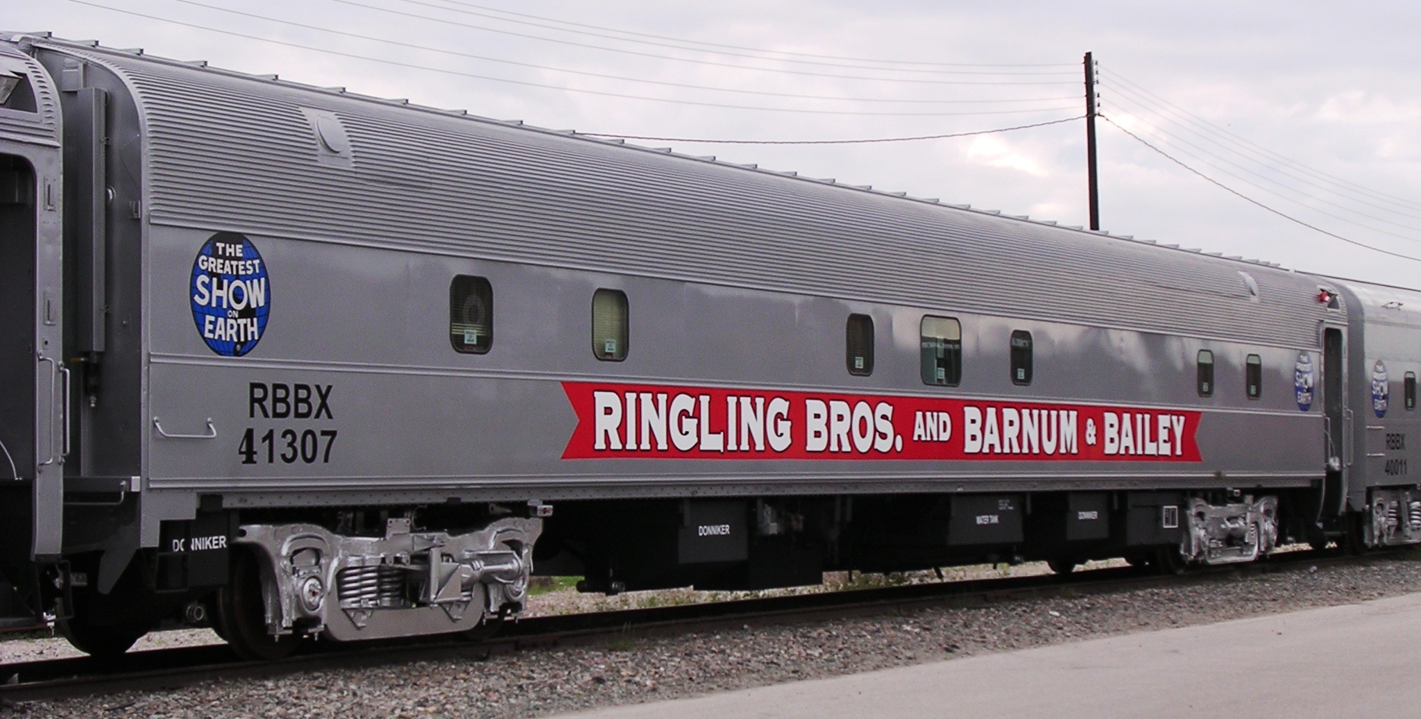 The iconic train cars of the Ringling Circus