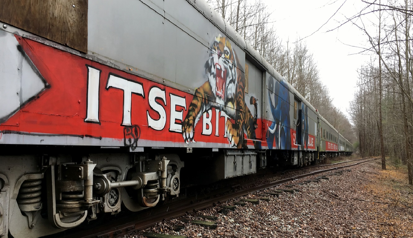 Animal-painted Circus Train Cars of the Ringling Bros. Circus