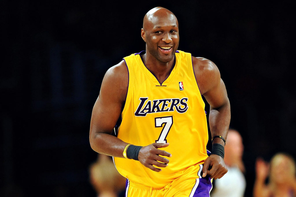Lamar Odom during a basketball game