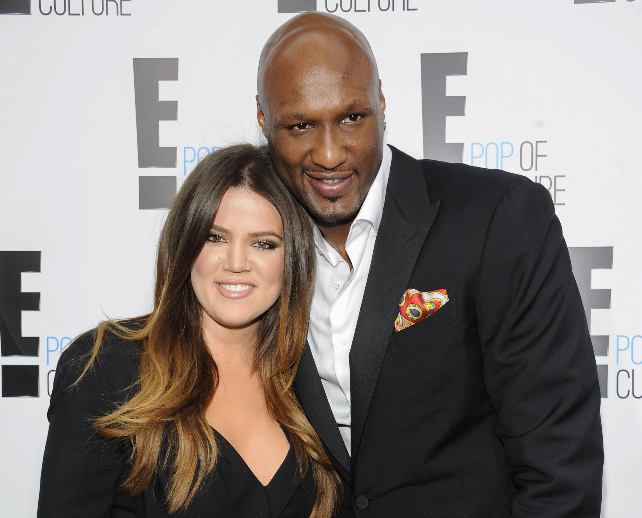 Lamar Odom with his ex-wife Khloe Kardashian