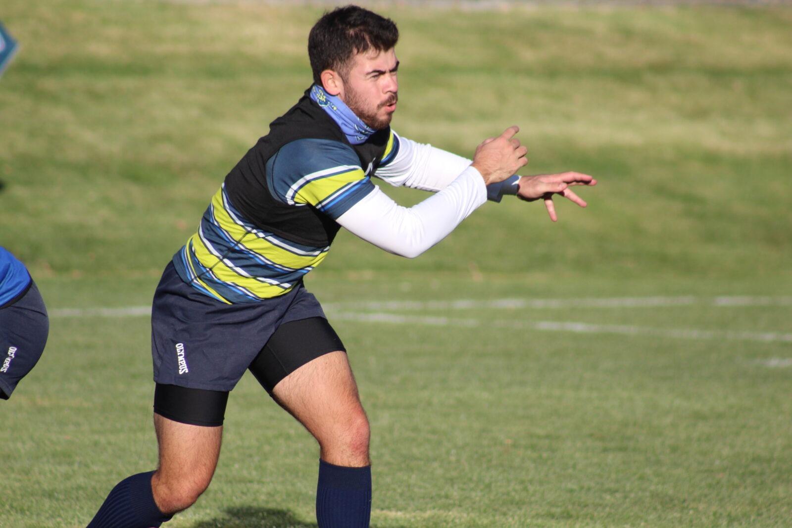 Casey McDermott Vai training to become a rugby player through the Colorado XO crossover program